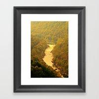 Peaceful River View Framed Art Print