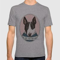 Bull Terrier Mens Fitted Tee Athletic Grey SMALL