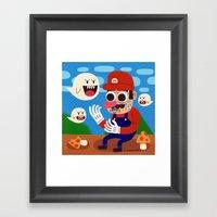 Tripping in the Mushroom Kingdom Framed Art Print