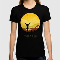 Solaire (Dark Souls) Womens Fitted Tee Black SMALL