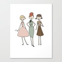 Betty, Joan and Peggy Canvas Print
