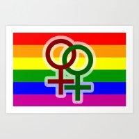 LGBT Lesbian Art Print
