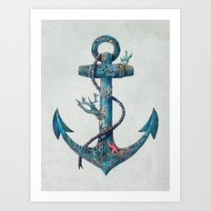 Lost at Sea Art Print