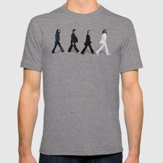 Abbey Road Mens Fitted Tee Tri-Grey SMALL
