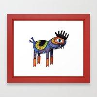 Turtle Chicken Horse Framed Art Print