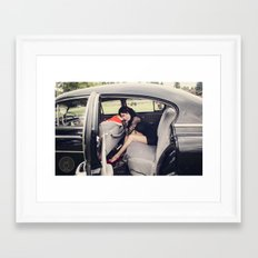 Ride with me. Framed Art Print