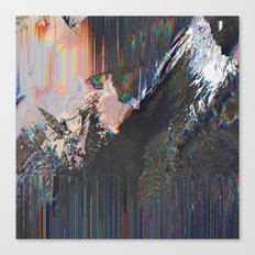 Glitched Landscape 1 Canvas Print