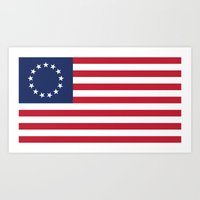 The Betsy Ross flag of the USA - Authentic version Art Print