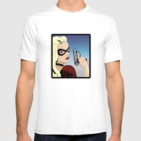 Because Looks CAN Kill Mens Fitted Tee White SMALL