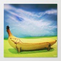 Dachshund Banana Canvas Print