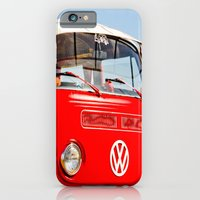 Red VW Bus Bold Print iPhone 6 Slim Case