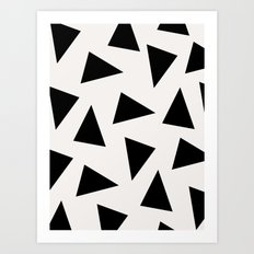 black triangle pattern II Art Print