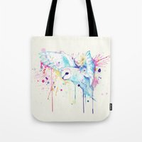 White Barn Owl Watercolo… Tote Bag