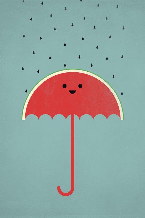 Watermelon Umbrella Art Print