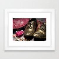 Shoe ad composition 2 Framed Art Print
