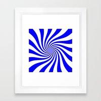 Swirl (Blue/White) Framed Art Print