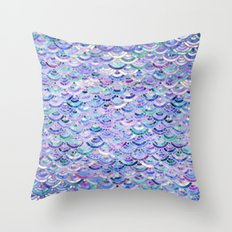 Marble Mosaic in Amethyst and Lapis Lazuli Throw Pillow