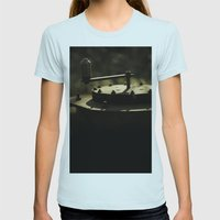 rusty Womens Fitted Tee Light Blue SMALL