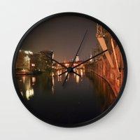 PEACEFUl NIGHT - BERLIN Wall Clock