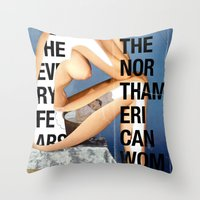 The North American Woman Throw Pillow