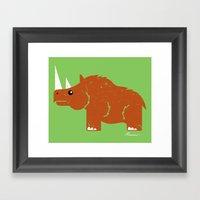 Woolly Rhino Framed Art Print