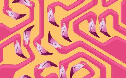 Art Print - Flamingo Maze - Iker Paz Studio