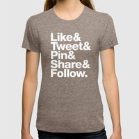 The Social Type Womens Fitted Tee Tri-Coffee SMALL