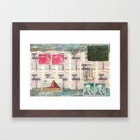 landscape of the American dream Framed Art Print