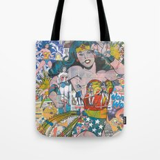Vintage Comic WonderWoman Tote Bag