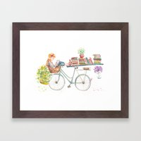 Reading Time Framed Art Print