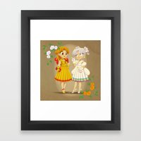 Retro Sailor Galaxia & Cosmos Framed Art Print