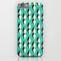iPhone & iPod Case featuring turquoise petal lines  by ravynka