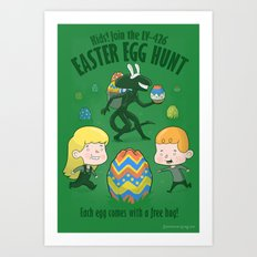 A Xenomorph Easter Special Art Print