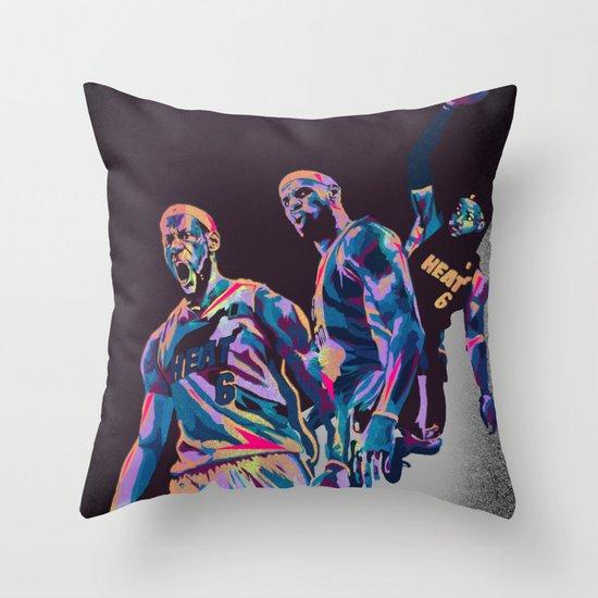 Lebron James NBA Illustration serie 3 of 3 Throw Pillow