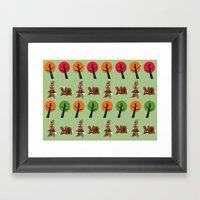Watership Down Rabbits, inspired by El-ahrairah: A rabbit trickster folk hero Framed Art Print