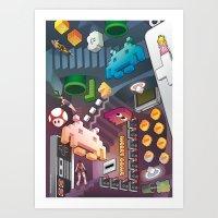 Lost in videogames Art Print