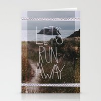 Let's Run Away: Cannon B… Stationery Cards