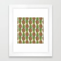 PINA COLADA: Pineapple Framed Art Print