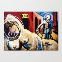 Exit Stage Left Canvas Print