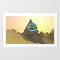 Science Fiction Desert Scene Art Print