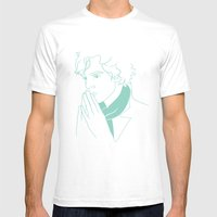 Sherlock H Mens Fitted Tee White SMALL