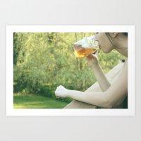 mason mug lover Art Print