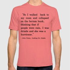 She Was a Hurricane Mens Fitted Tee Pomegranate SMALL