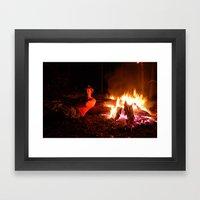 snow fire Framed Art Print