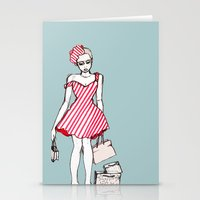 Frazzled Shopper Stationery Cards