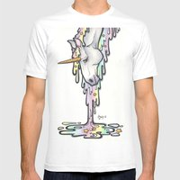 Unicorn Mens Fitted Tee White SMALL