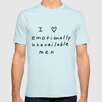 emotionally unavailable men Mens Fitted Tee Light Blue SMALL
