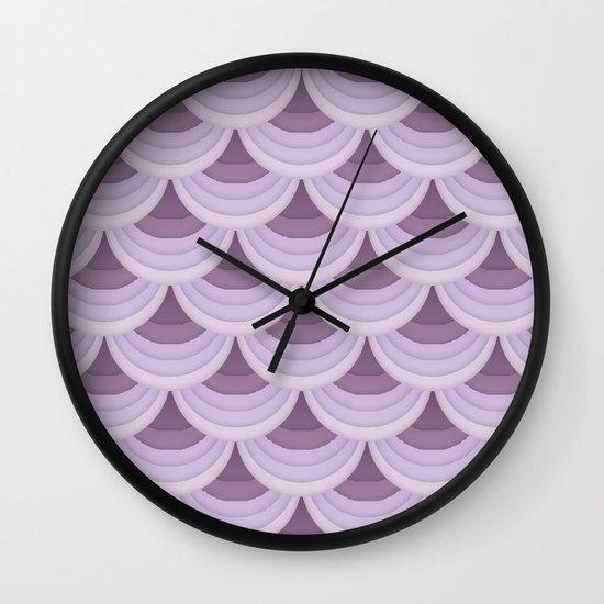 Fan Tail. Wall Clock