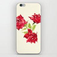 Three Red Roses iPhone & iPod Skin