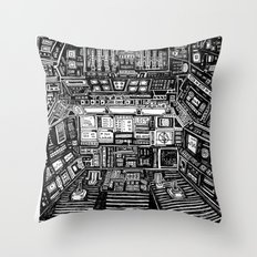 Lost cabin 666 Throw Pillow